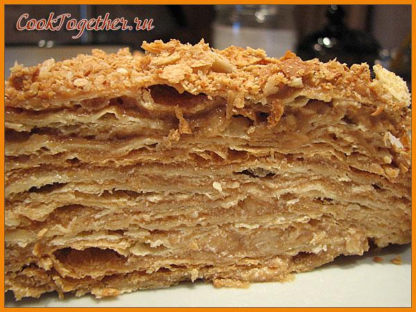 Торт наполеон рецепт с вареной сгущенкой рецепт с фото